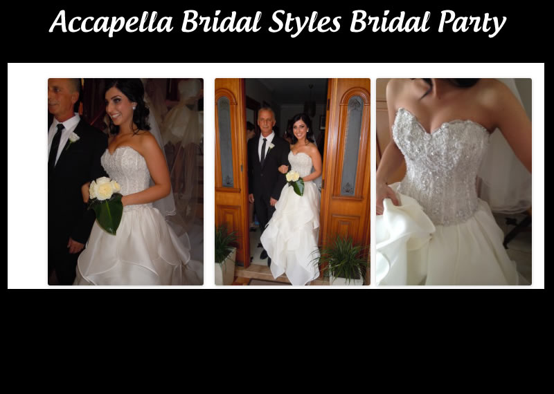 Accapella Bridal styling Bridal Party by Atelier Aimee