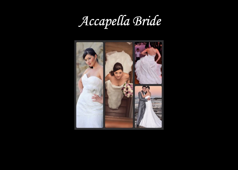 Accapella Bride