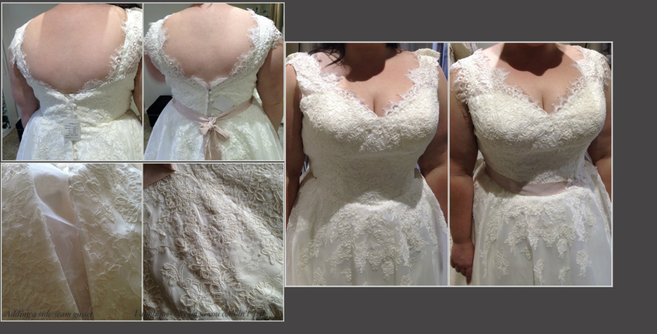 Alteration of the week : Plus size Bridal Alteration