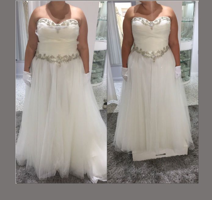 Bride ordered a dress two sizes smaller