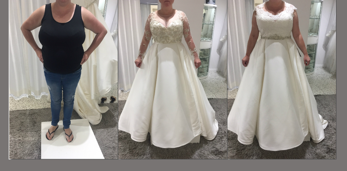 Bride purchased the dress sight-unseen