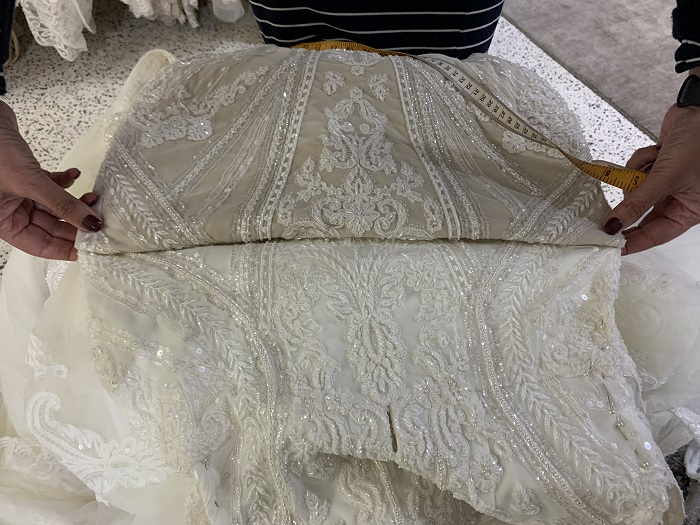 Buying from a bridal seamstress