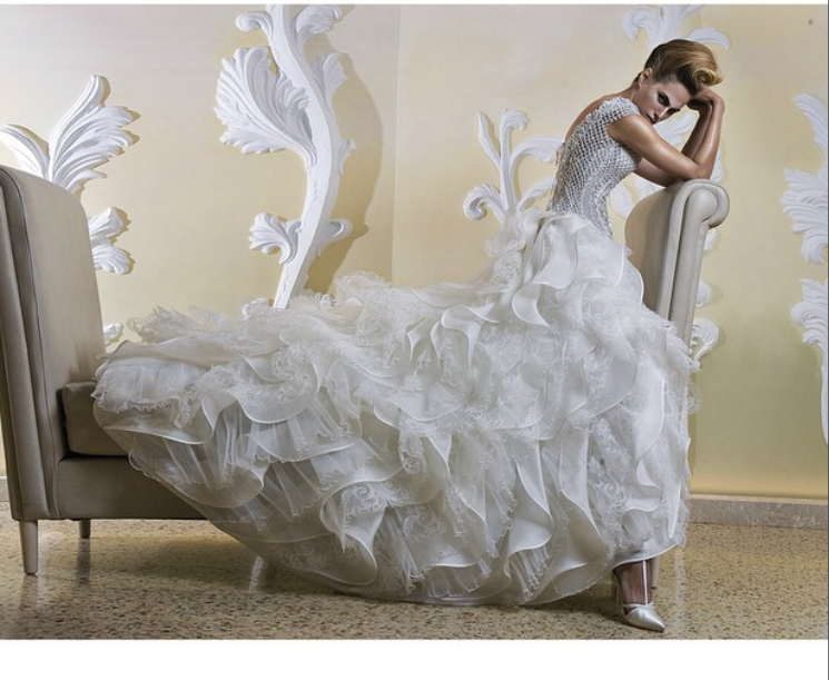 Couture Wedding dress made in Italy