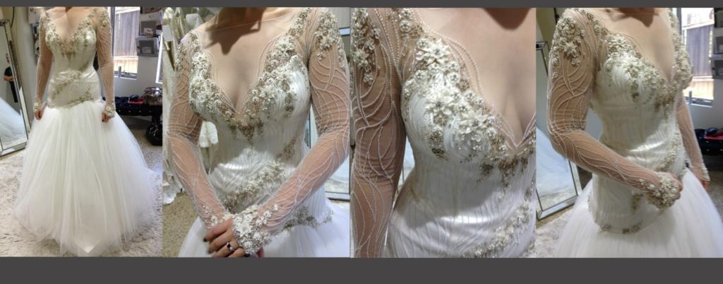 Designer Couture Wedding dress made in Italy