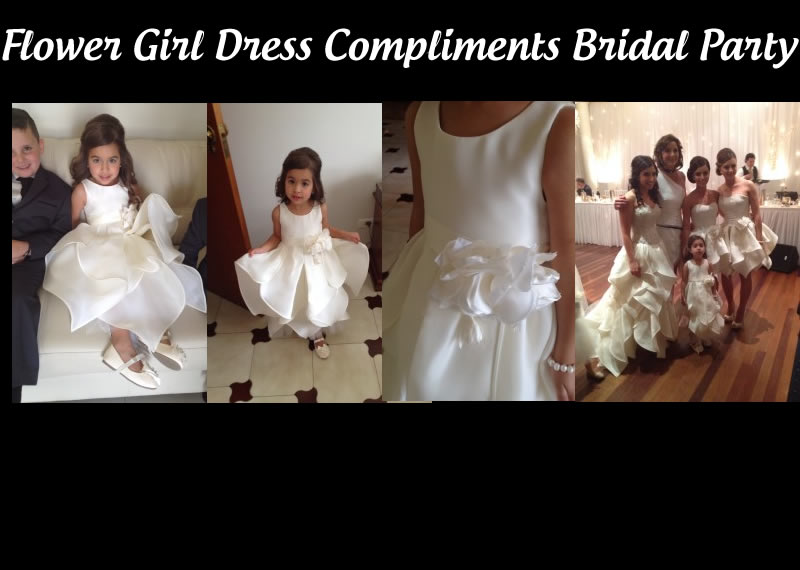 Flower Girl dress to compliment bridal party | Accapella Bridal