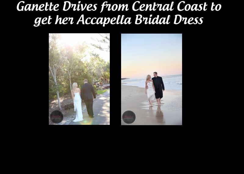 Genette in a Cotin Sposa wedding dress made in Italy