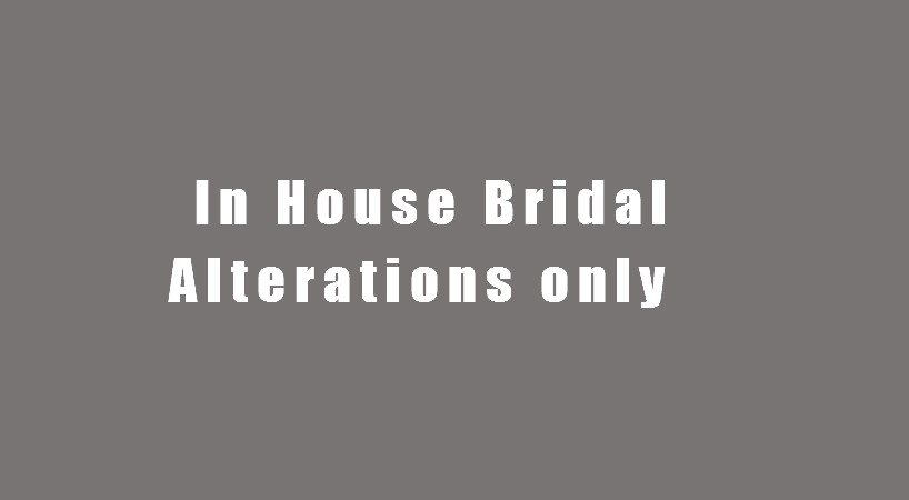 In house bridal alterations