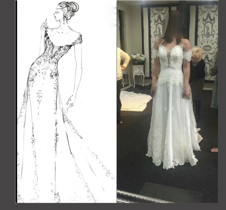 Issues with their made to measure Wedding Dress from Sydney