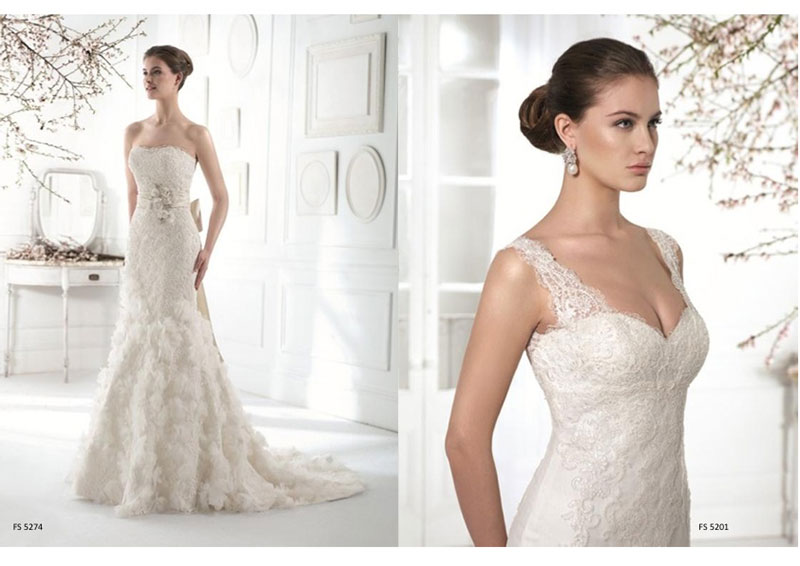 Lace wedding dress with or without straps?