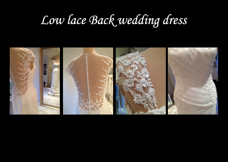 Low lace Back wedding dress