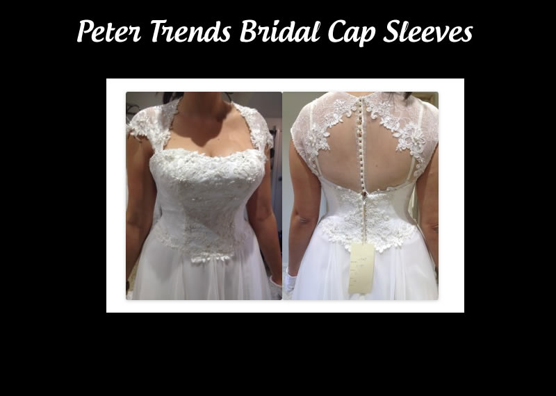 Peter Trends Bridal lace cap sleeves