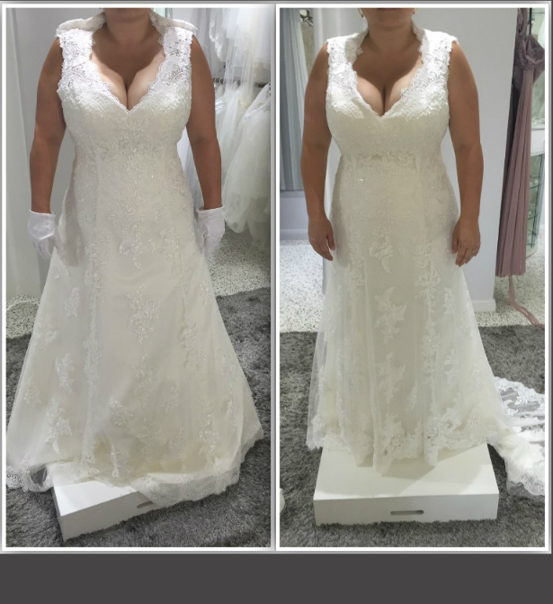 You don't have to LOVE every aspect of the dress during your first appointment